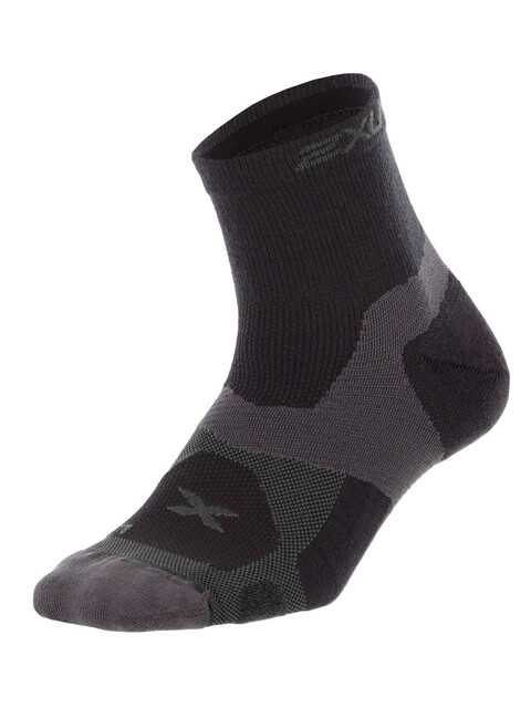 2XU Winter Long Range Vectr Men Socks Black/Charcoal
